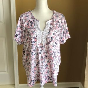 Paisley plus size blouse